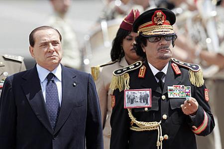 ITALY LIBYA GADHAFI